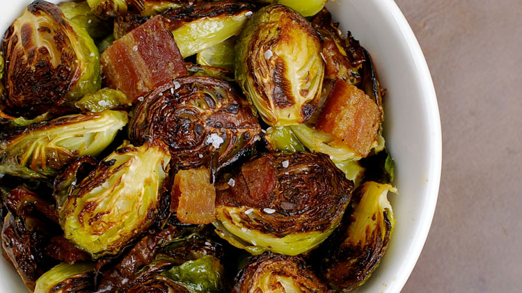 Above photo: Roasted Brussel Sprouts using Yeak's Krahom sauce