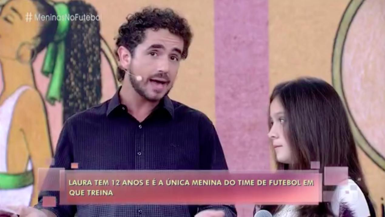 Laura participa do programa  Encontro com Fátima Bernardes  da TV Globo. (imagem: Gshow)