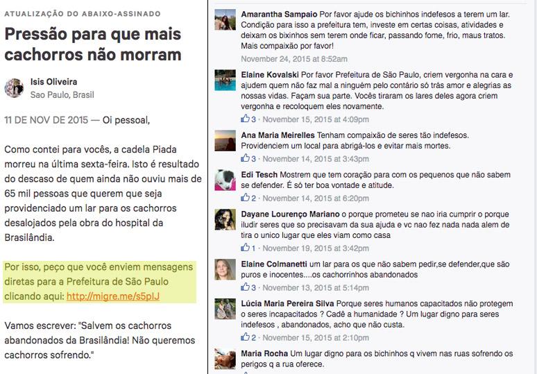 Depois da atualização da Ísia, MUITA GENTE COBROU UMA SOLUÇÃO DA PREFEITURA no Facebook. (IMAGENS: Reprodução)