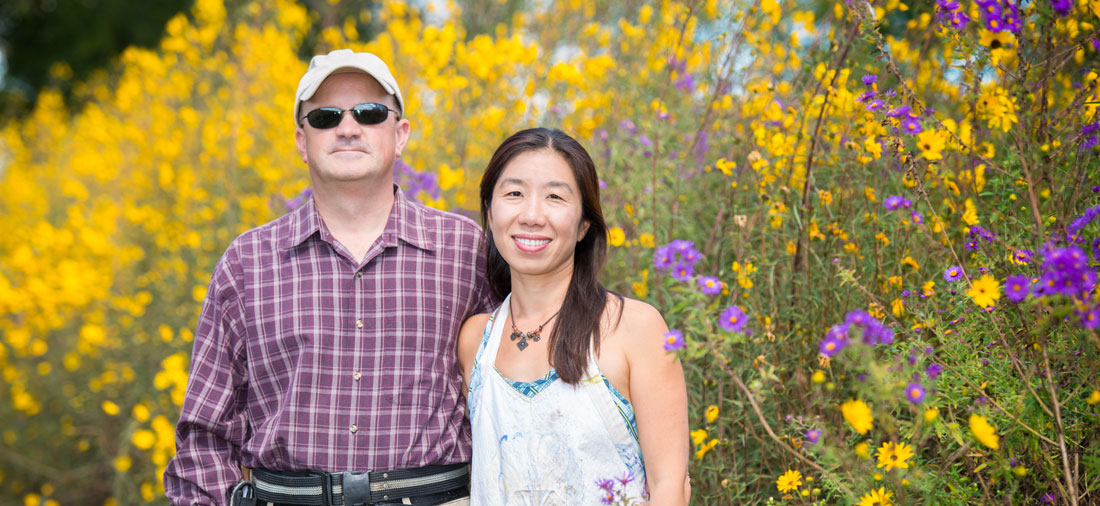 Rick and Wenfei at Seaberry Farm