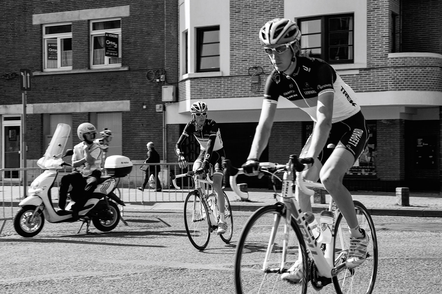 Schleck brothers in Charleroi