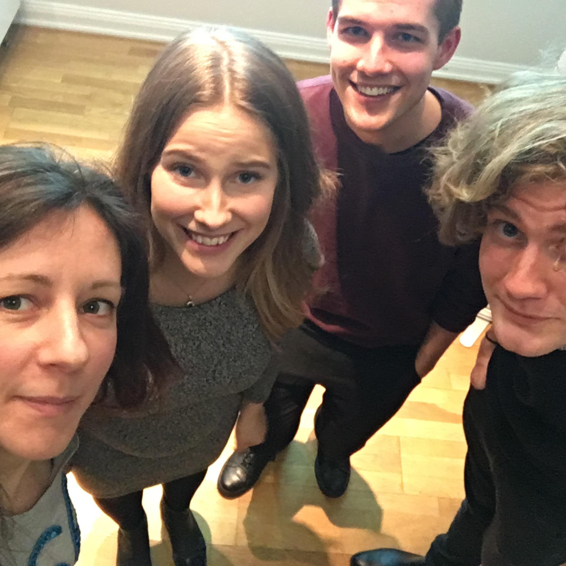 Panelists at Timbro. Ida Drougge (M), Mårten Roslund (Grön Ungdom), Frans Sporsén (Cuf).