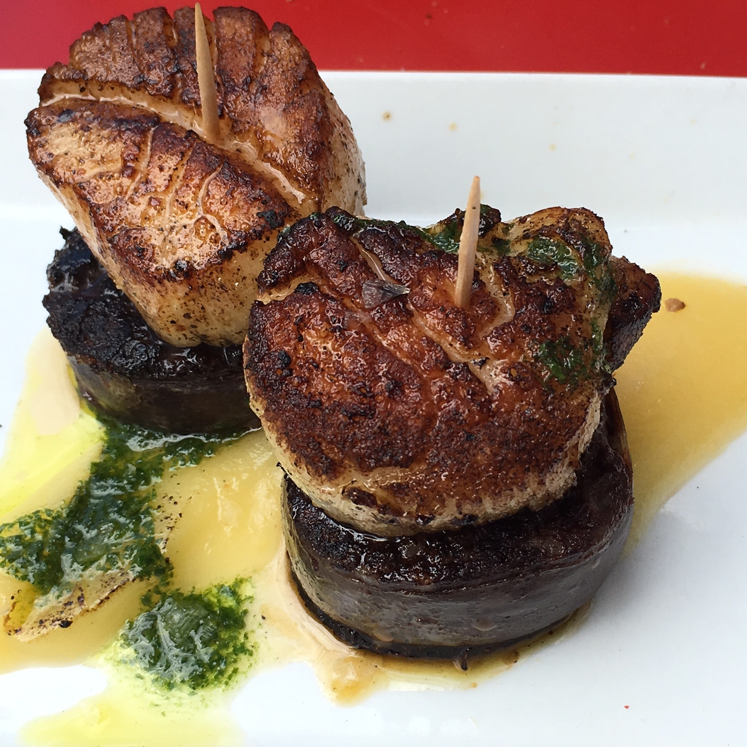 Scallops with morcilla. Delicieux!
