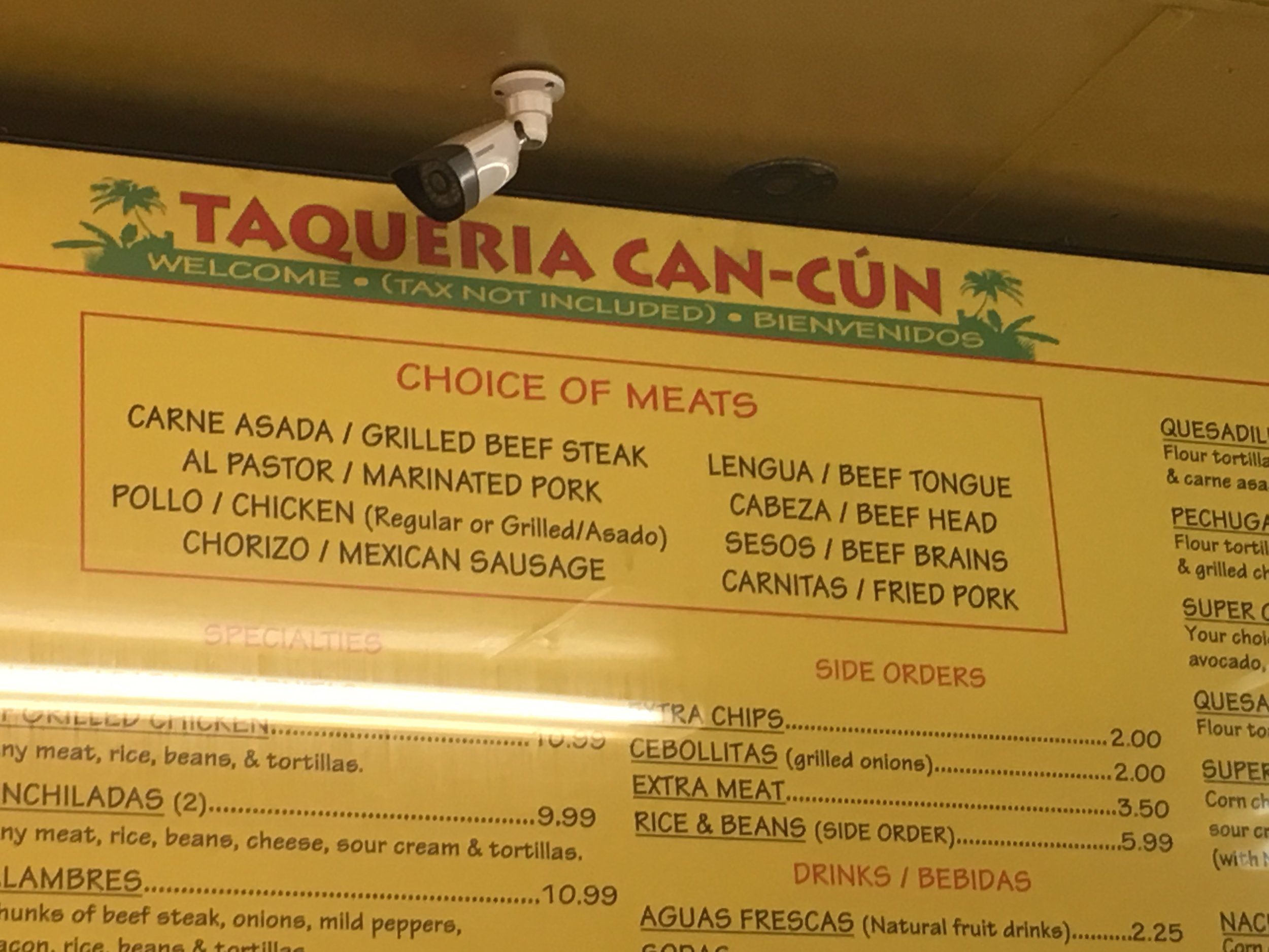 Choice of meats