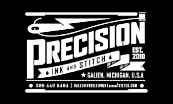PRECISION INK & STITCH - SPECIALIZING IN CUSTOM EMBROIDERY, SCREEN PRINTING, WOVEN AND EMBROIDERED PATCHES