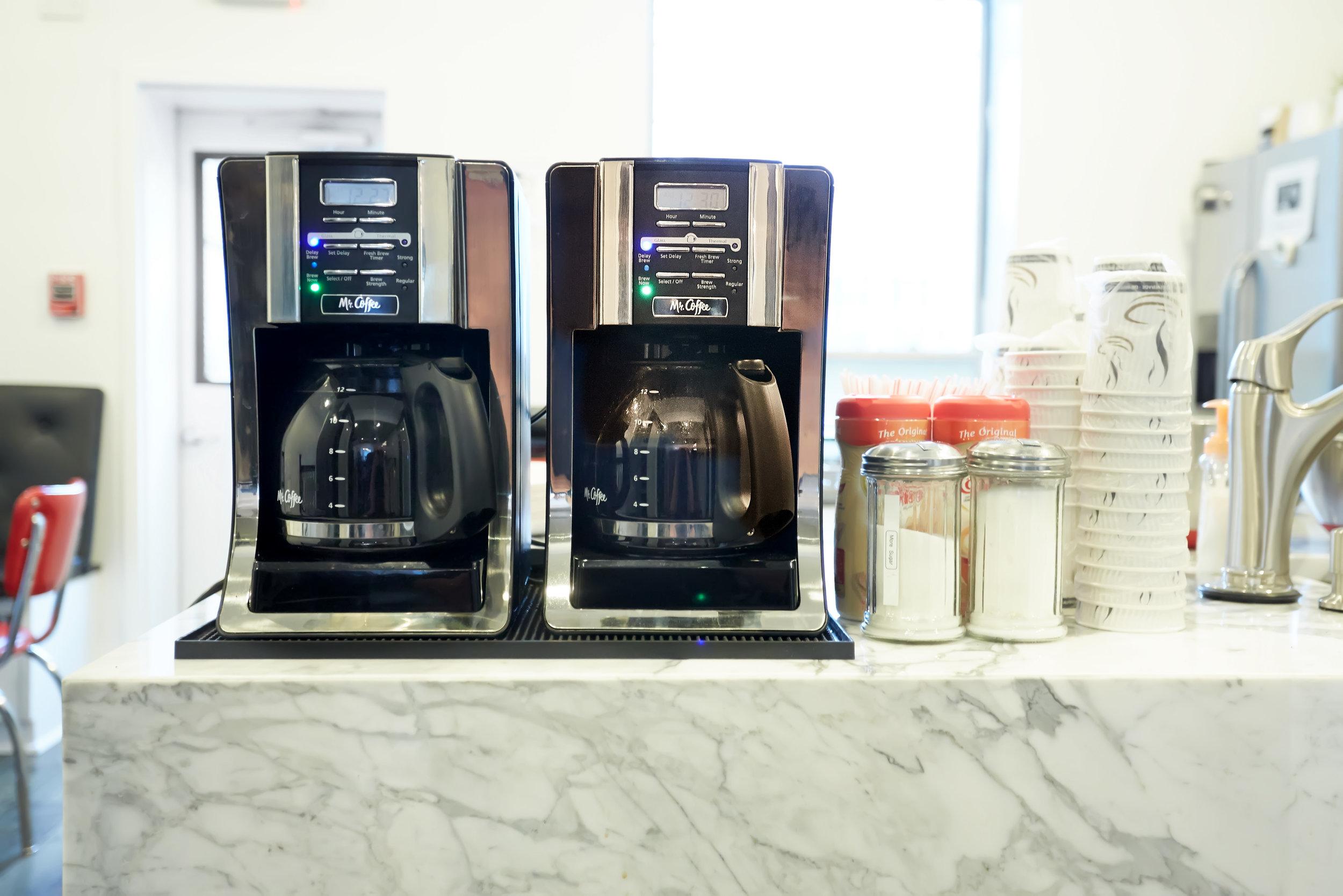 Free coffee - coffee machines