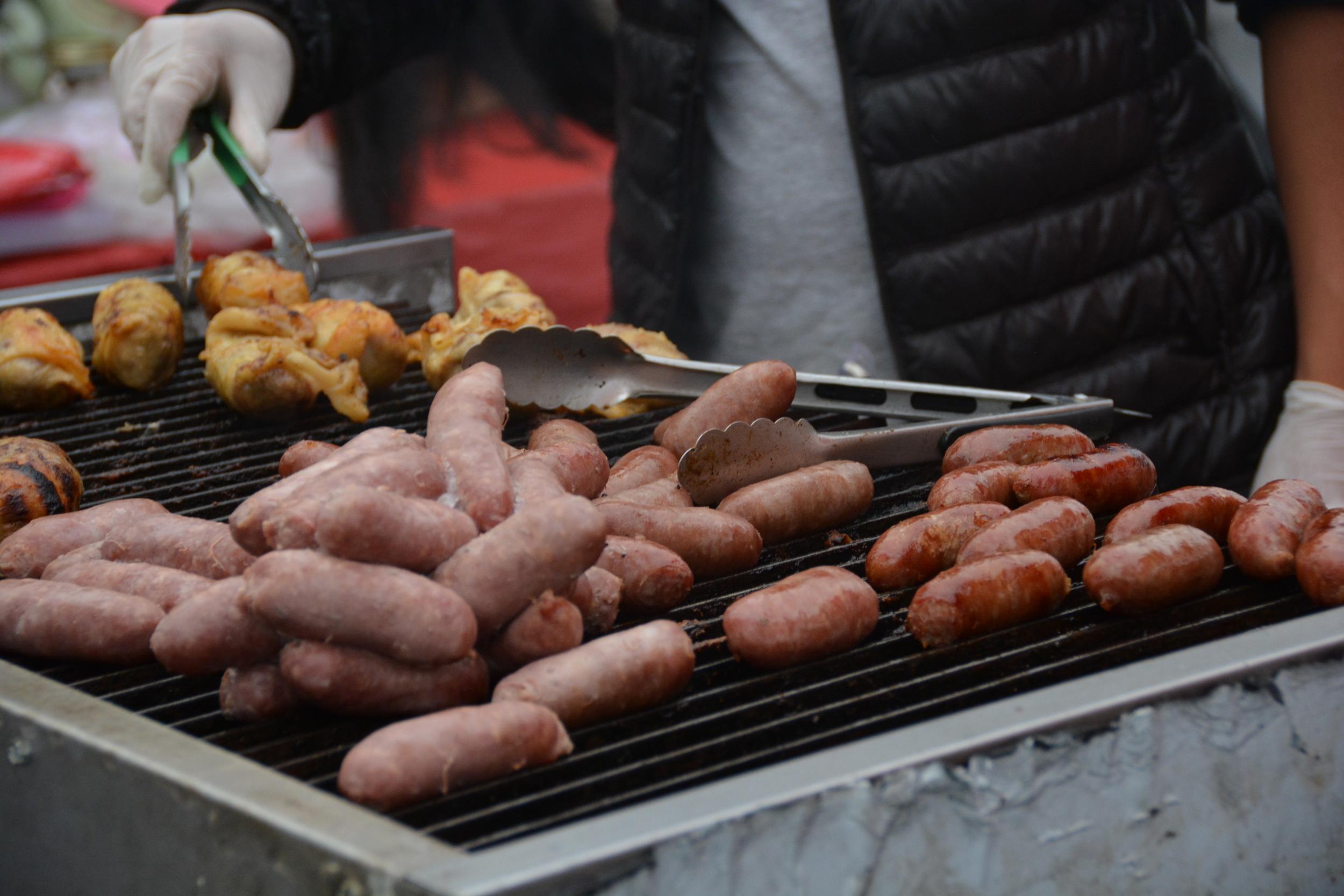 Sweet, baked Taiwanese sausage.