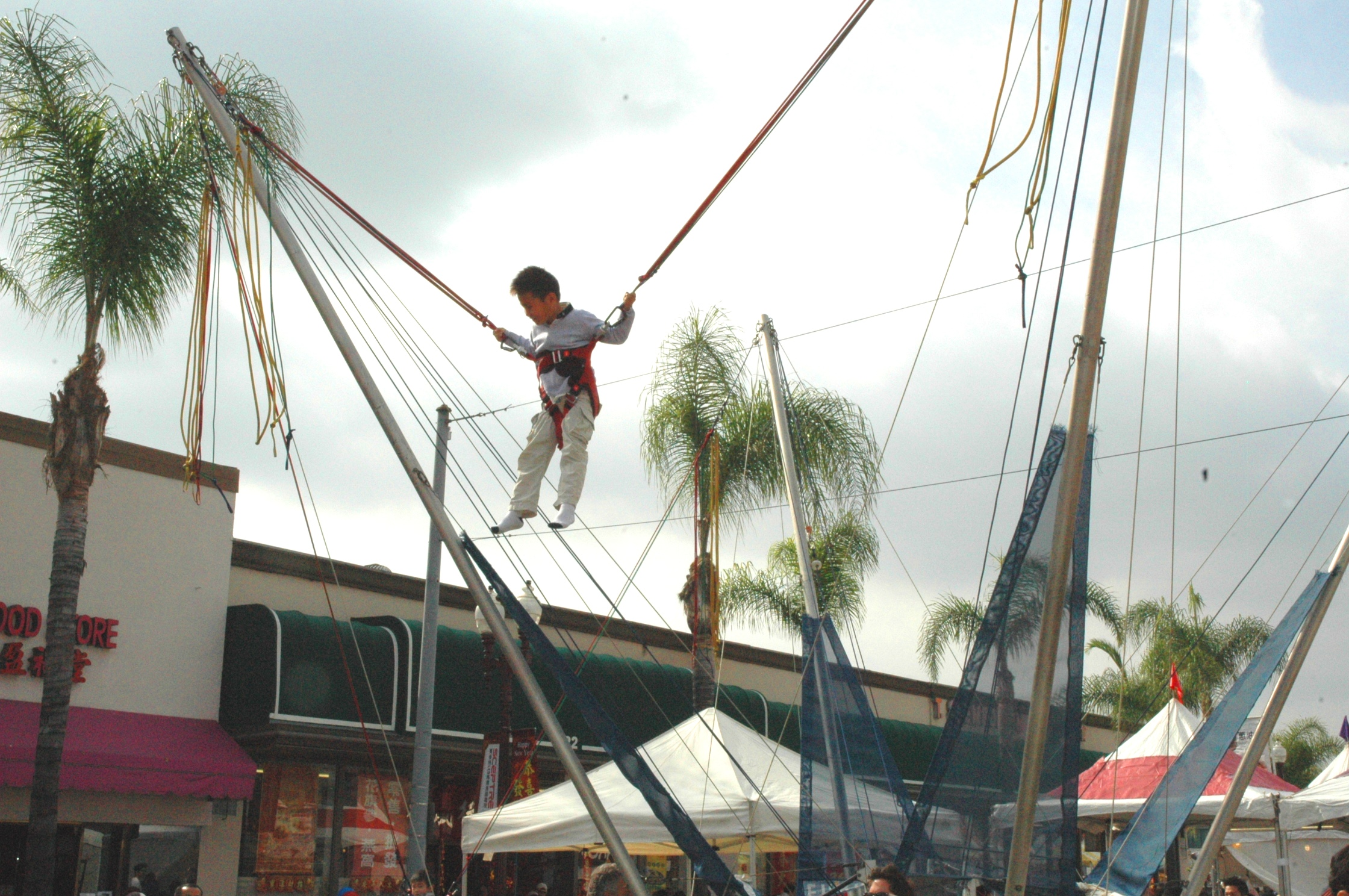 Bungee jump fun for kids