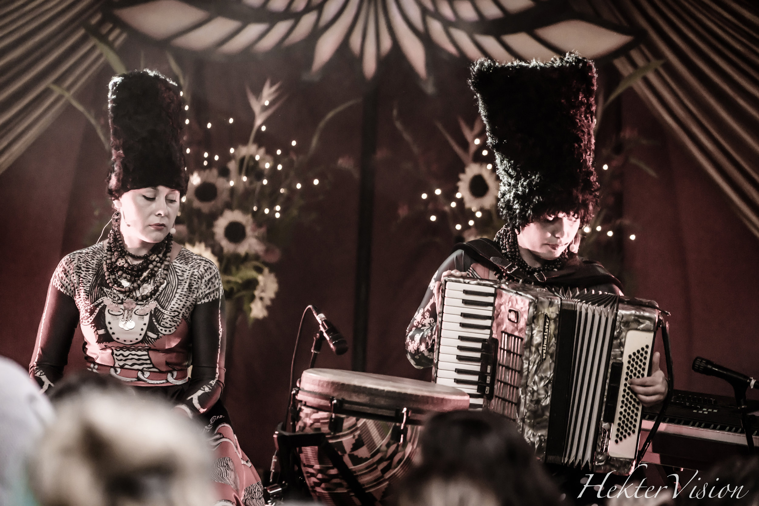 One of the standouts of the weekend, Dakhabrakha fuses traditional Ukrainian sounds with modern, funky sounds