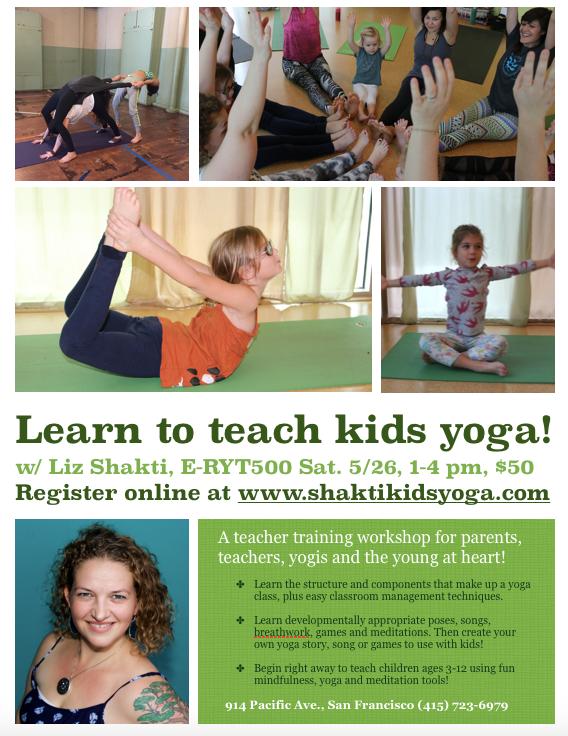 Learn To Teach Kids Yoga Workshop Sf Yoga Mag