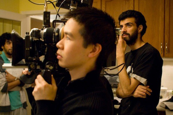 Director of Photography Kar Wai Ng and Director Yaz Rabadi on the set of  Karim  (2007).