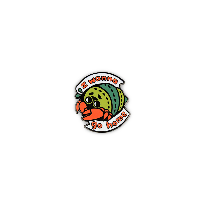 Get Lapel Pins-150-i wanna go home crab.jpg