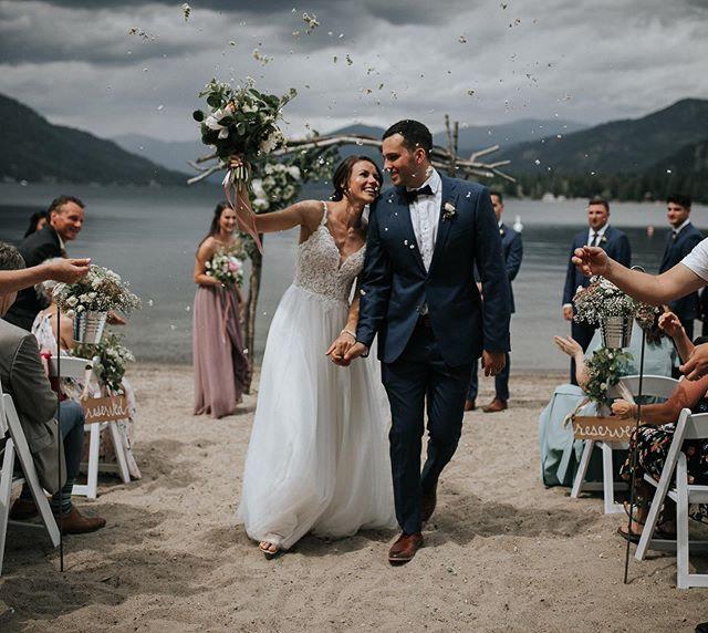 Mr. and Mrs. Rogers! 🎉🥂👏 . . .  #radlovestories #junebugweddings #andreaballphoto #portraitcollective #tribearchipelago #lxcpresets #pnwcollective #lookslikefilm #stylemepretty #greenweddingshoes #photobugcommunity #vancouverweddingphotographer #loveandwildhearts #emotionoverperfection #dirtybootsandmessyhair #pnwedding #heyheyhellomay