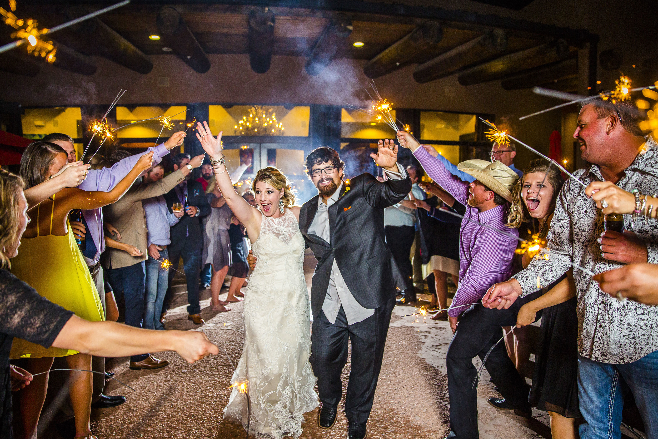 LUBBOCK WEDDING PHOTOGRAPHY, LUBBOCK WEDDING PHOTOGRAPHER, TAOS, NEW MEXICO, SPARKLER EXIT