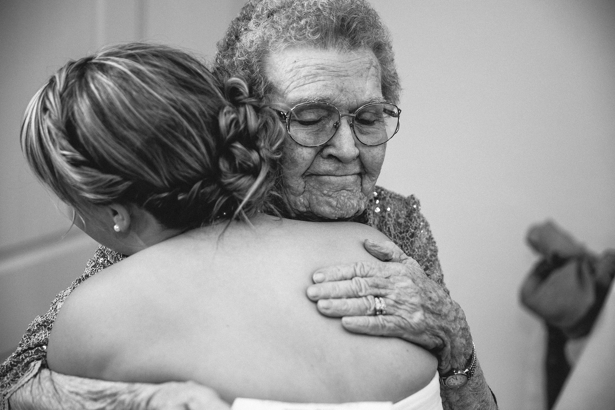 Family, Hugs, Walnut Tree Wedding, Grandmother