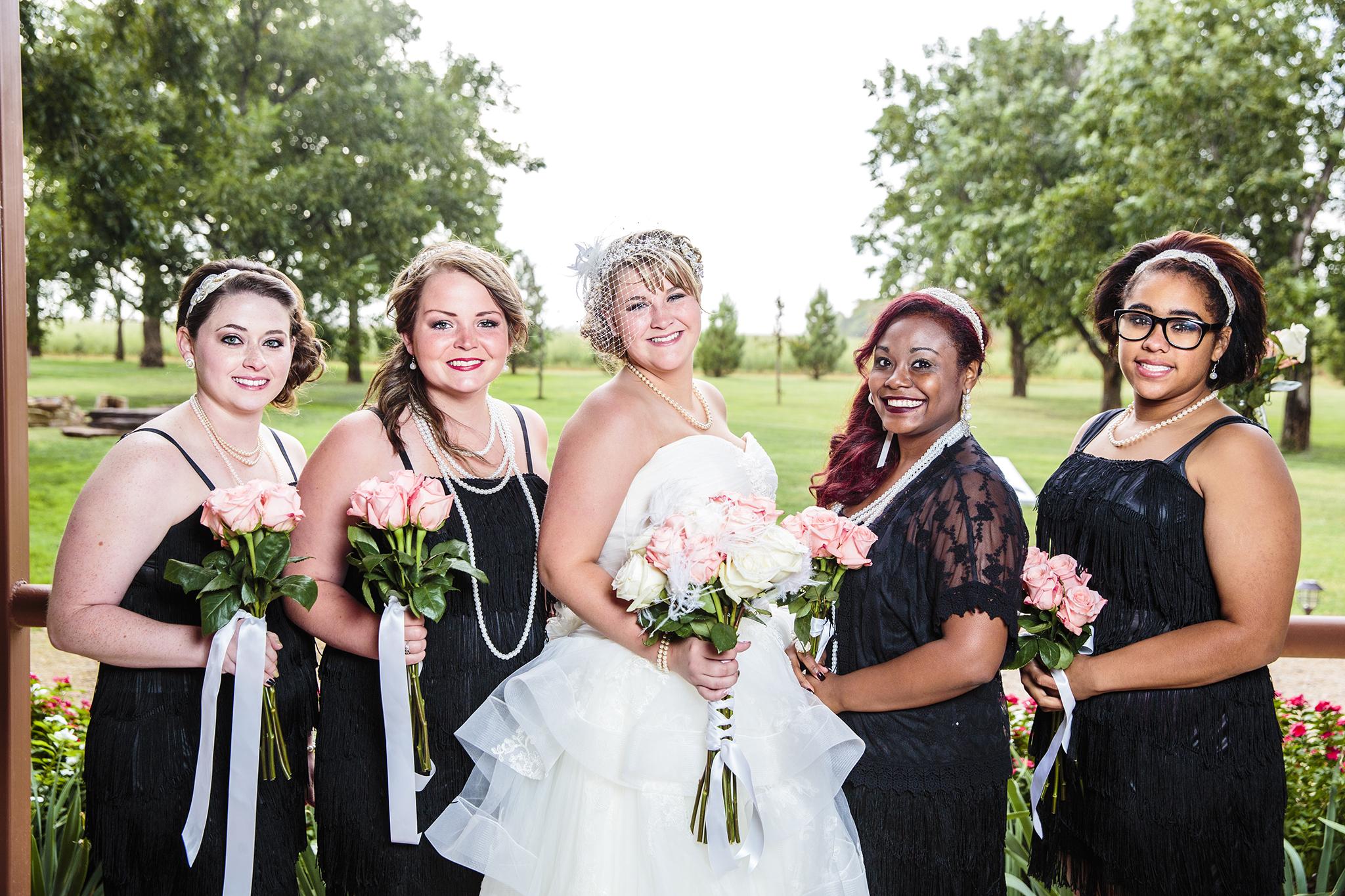 Bridal Party, Bridesmaids, Walnut Tree Weddings