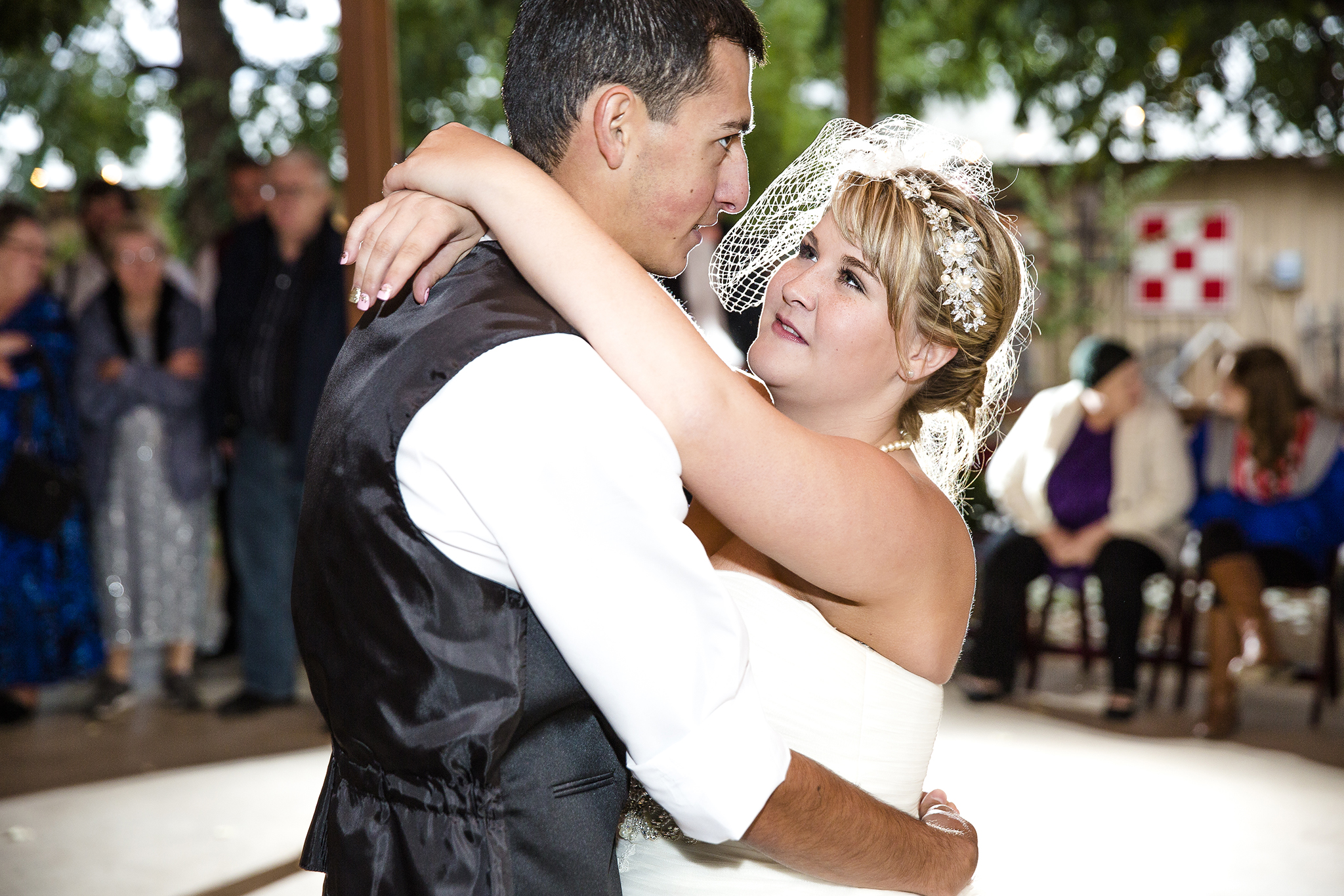 First Dance, Bride and Groom, Walnut Tree Weddings