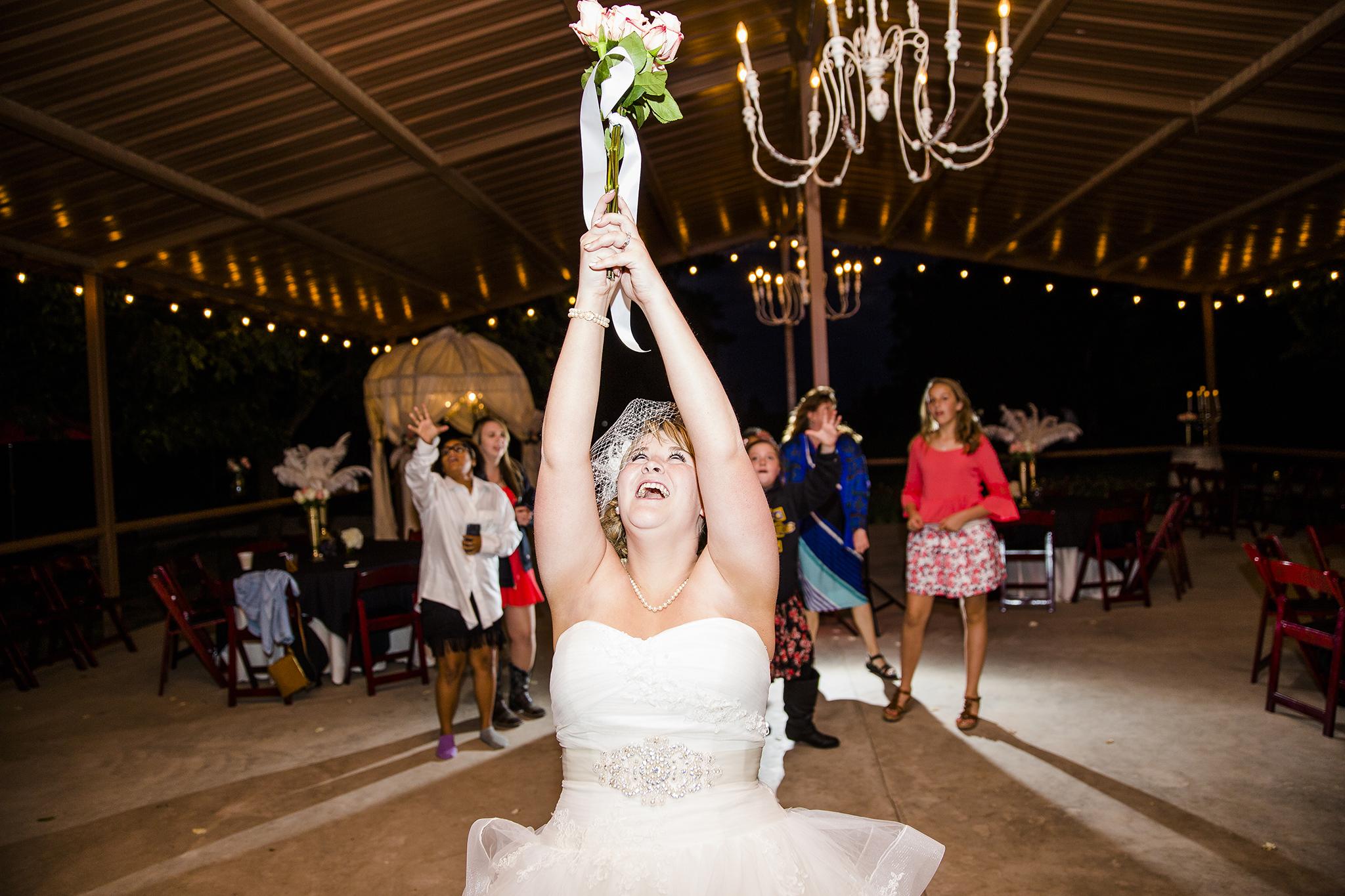 Bouquet Toss, Single Ladies, bride, Walnut Tree Weddings