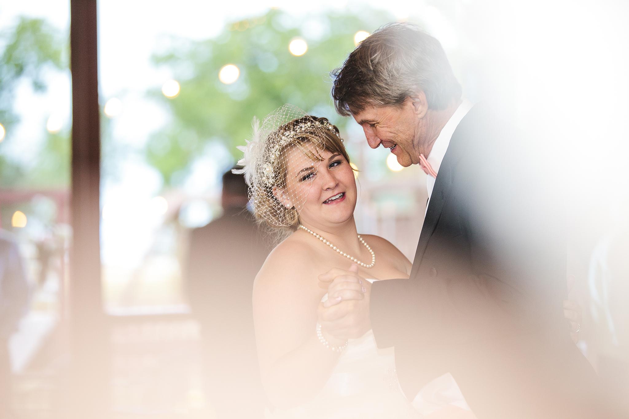Father Daughter Dance, Walnut Tree Weddings, Shoot through flowers, Walnut Tree Weddings