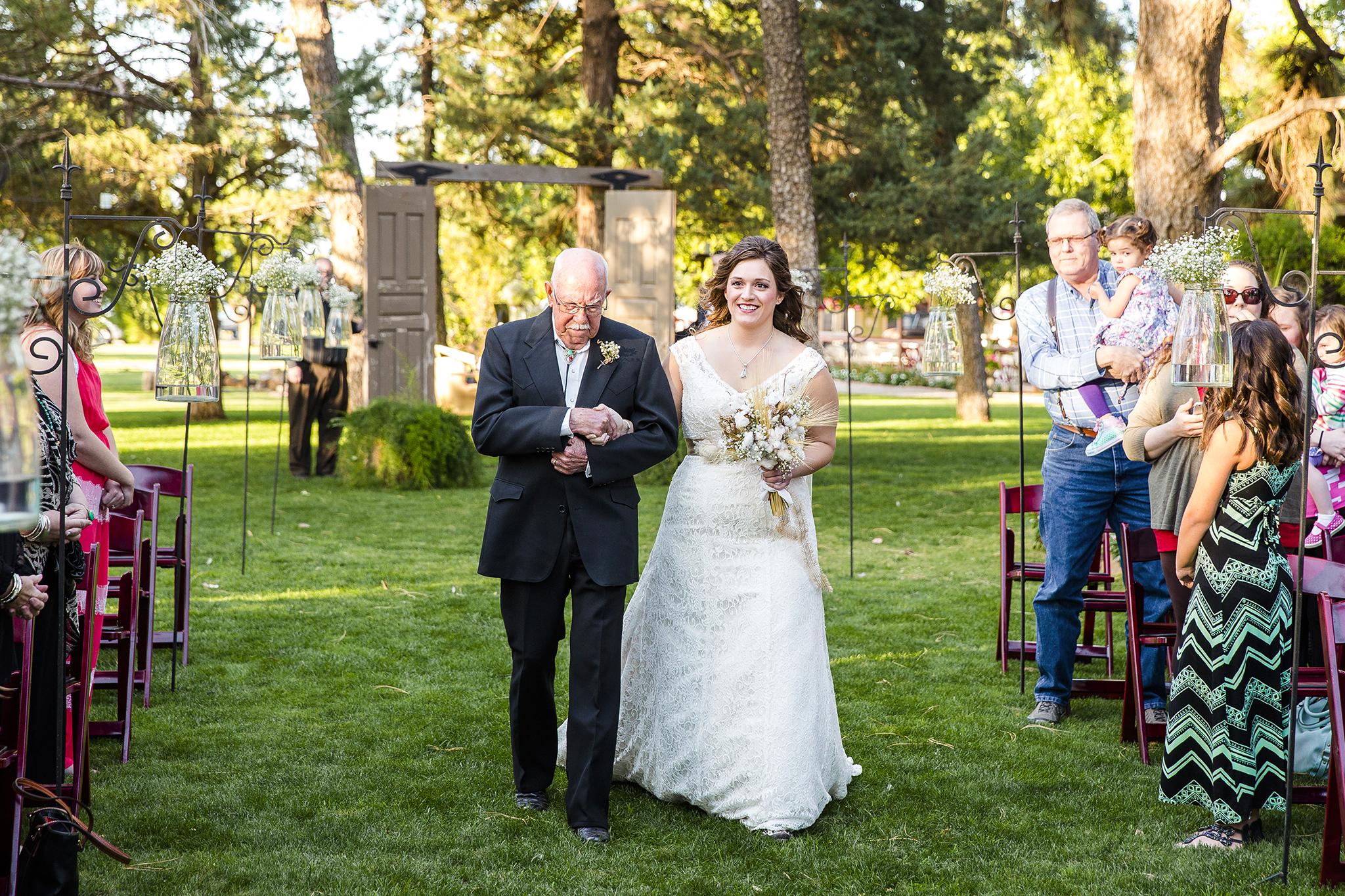 Lubbock Wedding Photography Wedding Photographer Walnut Tree Walking Down the Aisle