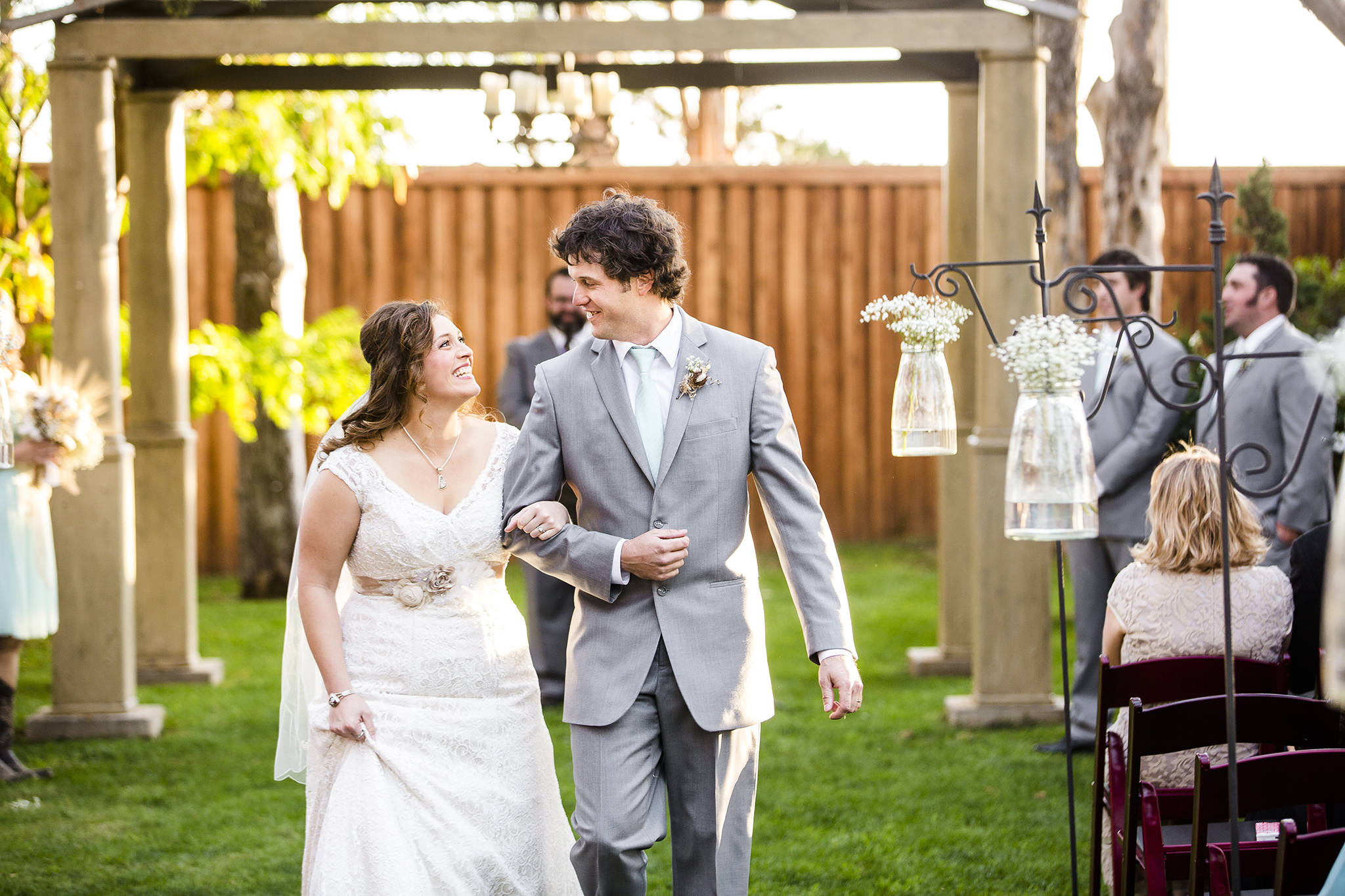 Lubbock Wedding Photography Wedding Photographer Walnut Tree Bride and Groom Exit