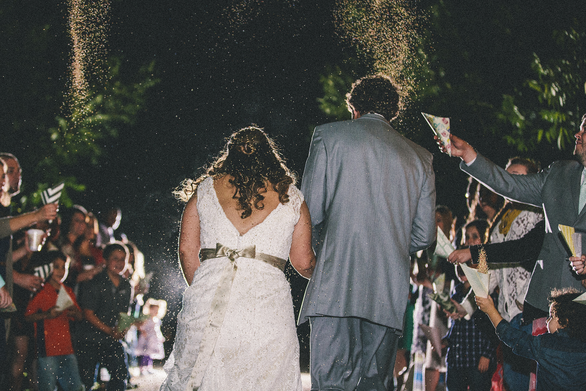 Lubbock Wedding Photography Wedding Photographer Walnut Tree Bride and Groom Exit Birdseed Exit