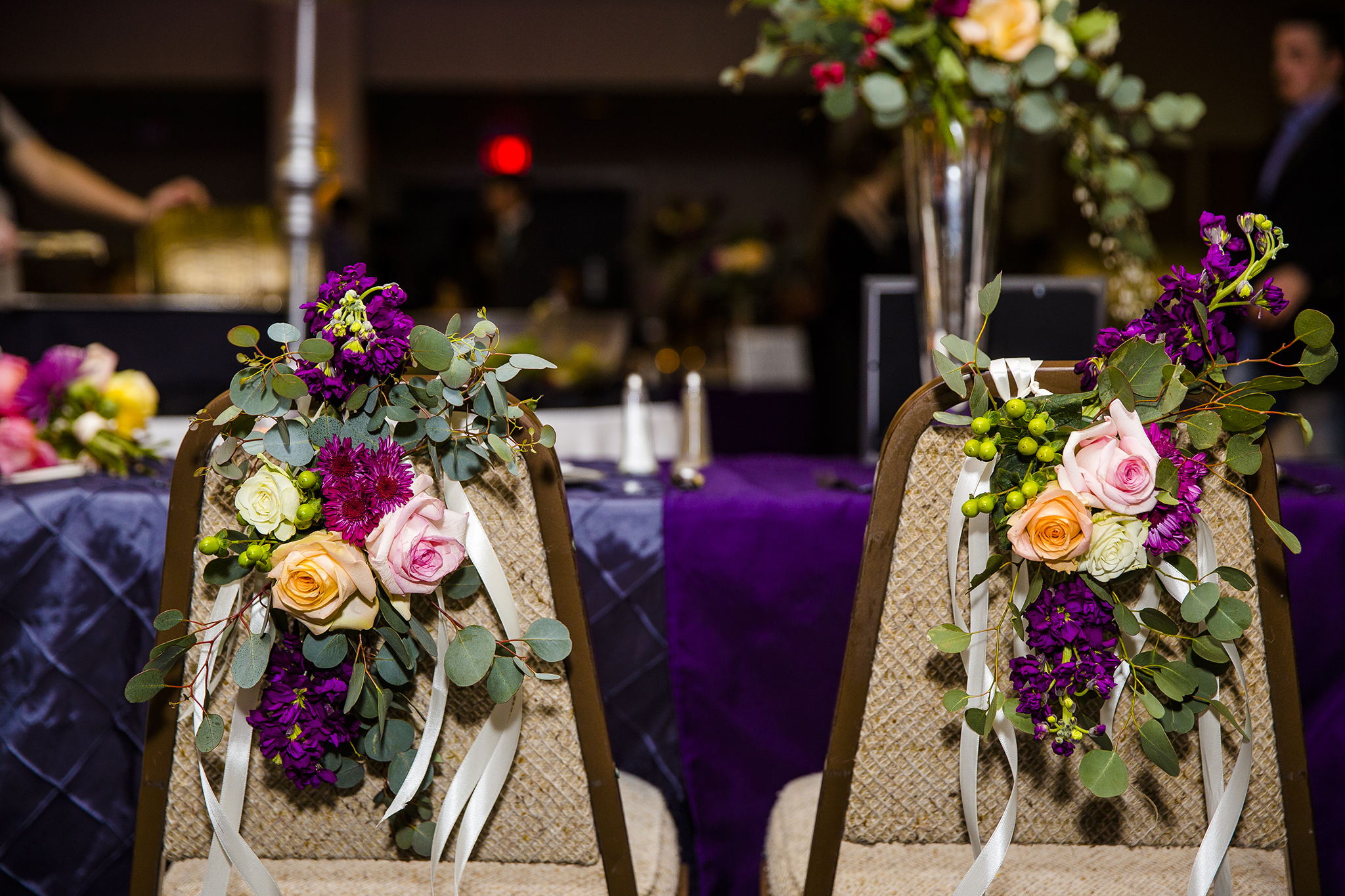 bride and groom, wedding reception, southern elegance design