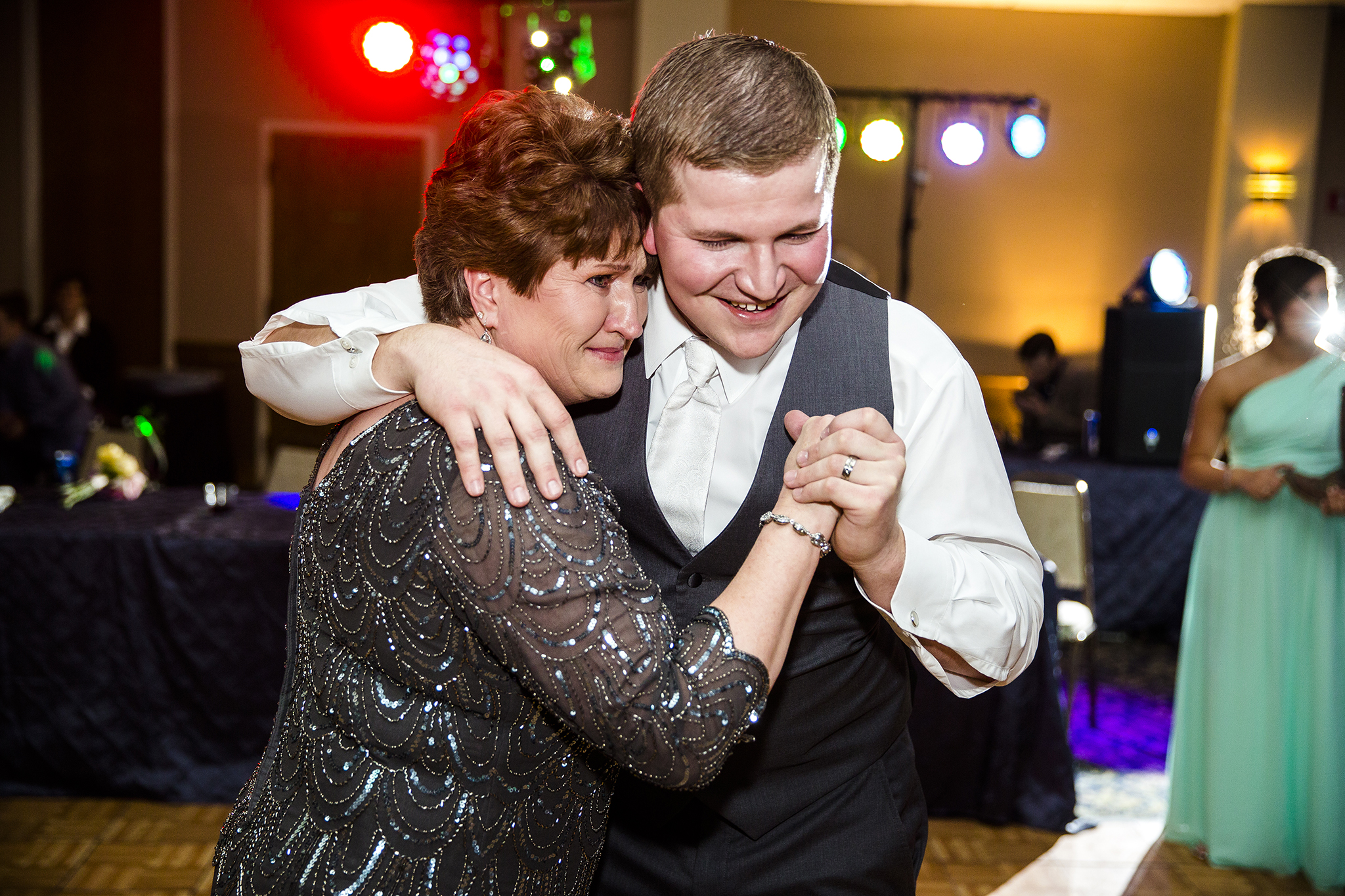 mother son dance, sweet, caring, crying