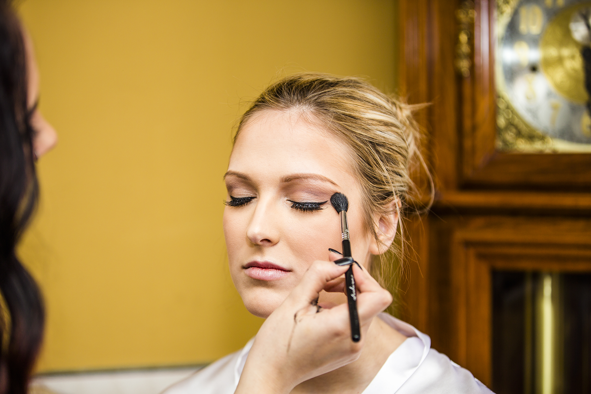 Make Up, Blush, Getting ready for wedding, Lubbock wedding