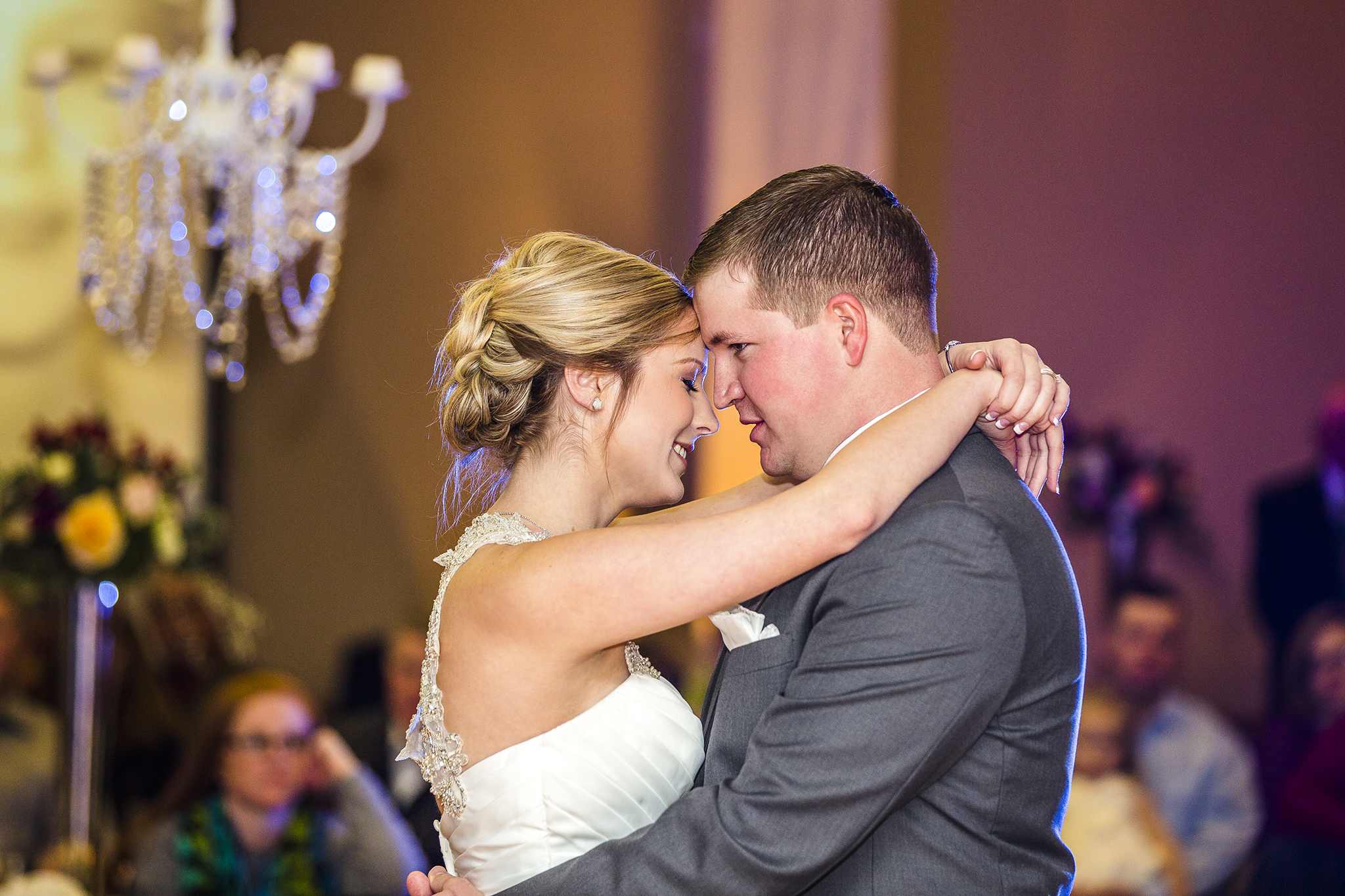 first dance, romantic, bride and groom, wedding reception, love, sweet