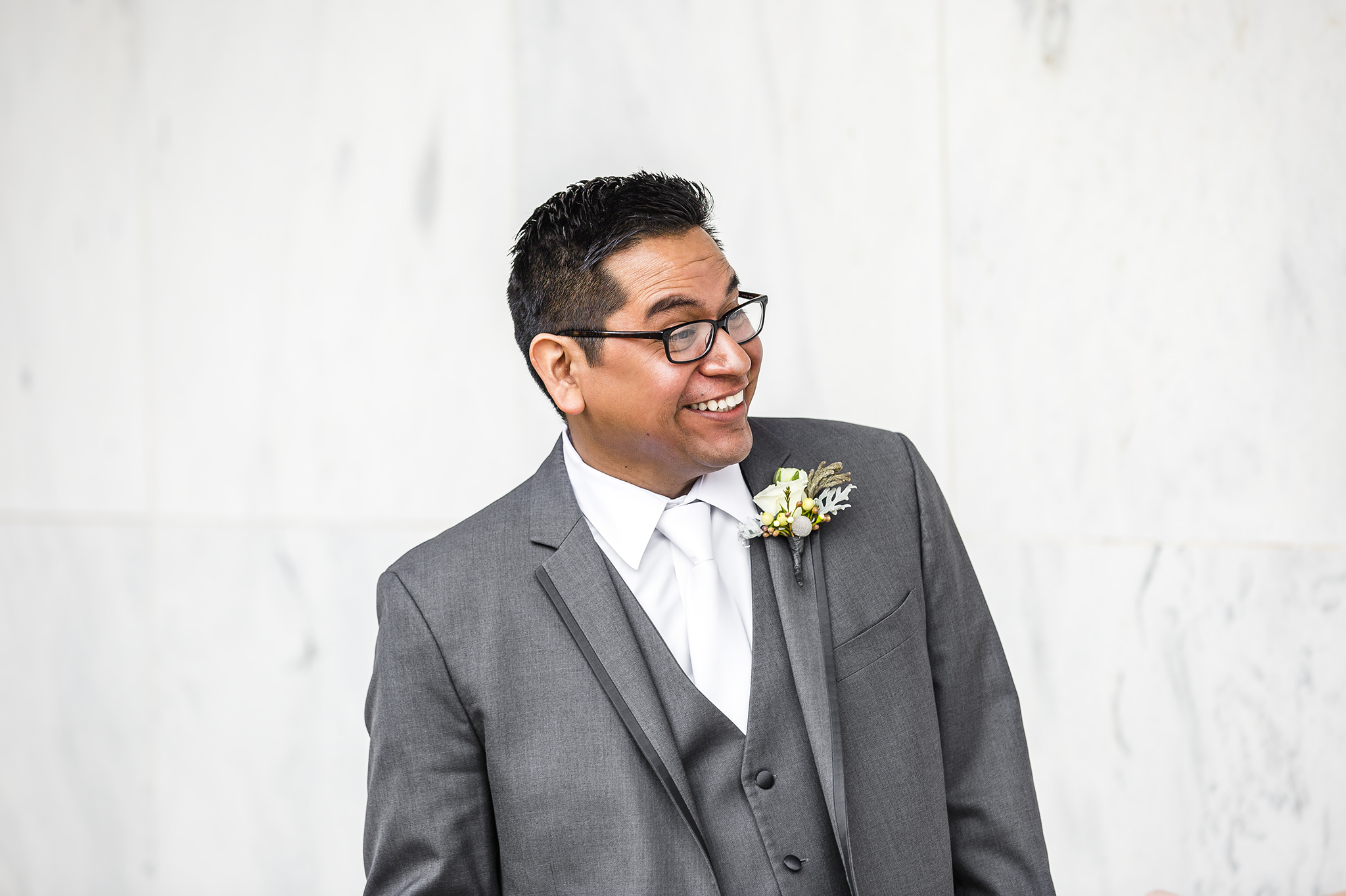 first look, romantic, priceless reaction, wedding photography