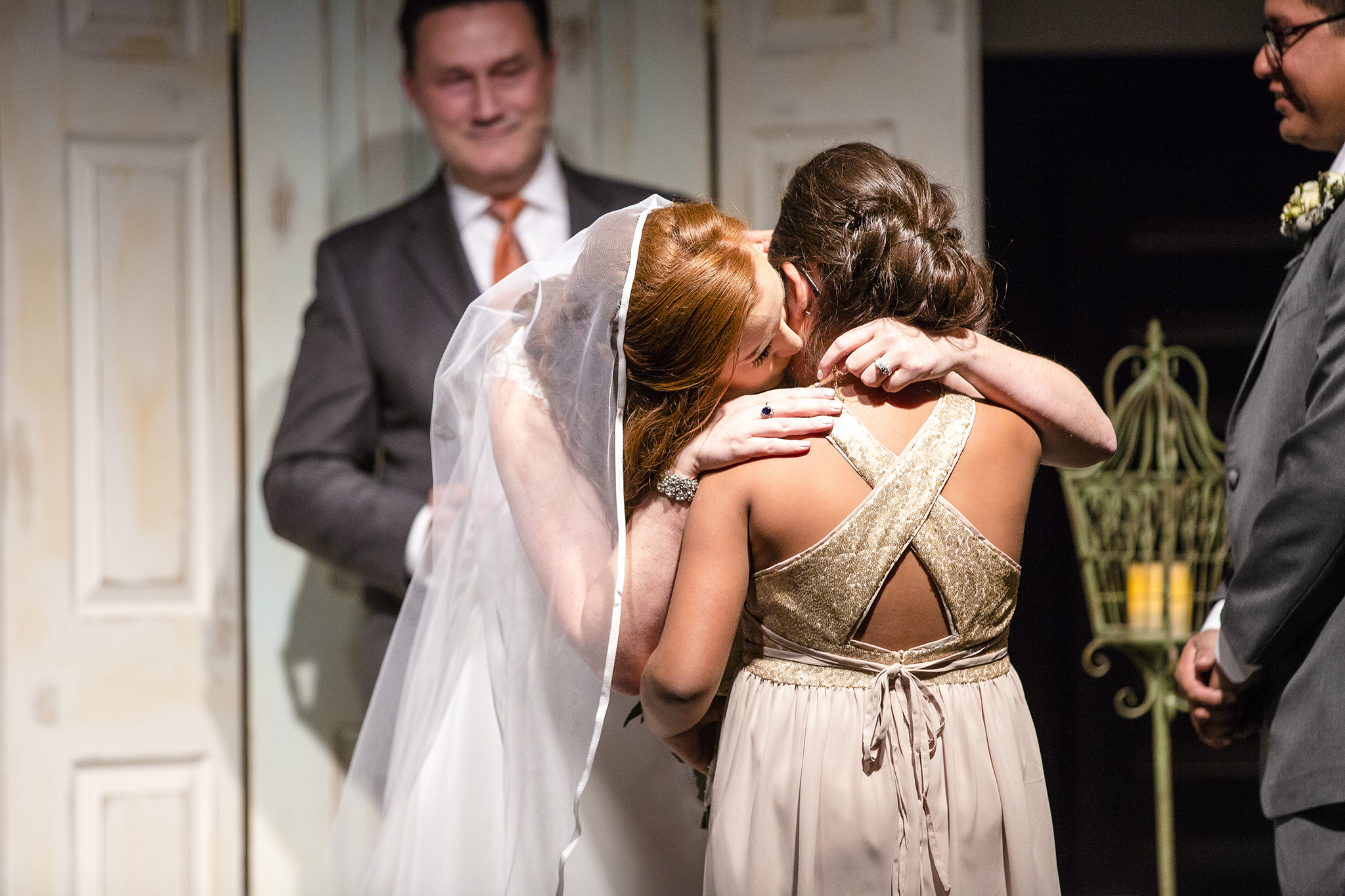 mother and daughter, sweet moment, wedding ceremony
