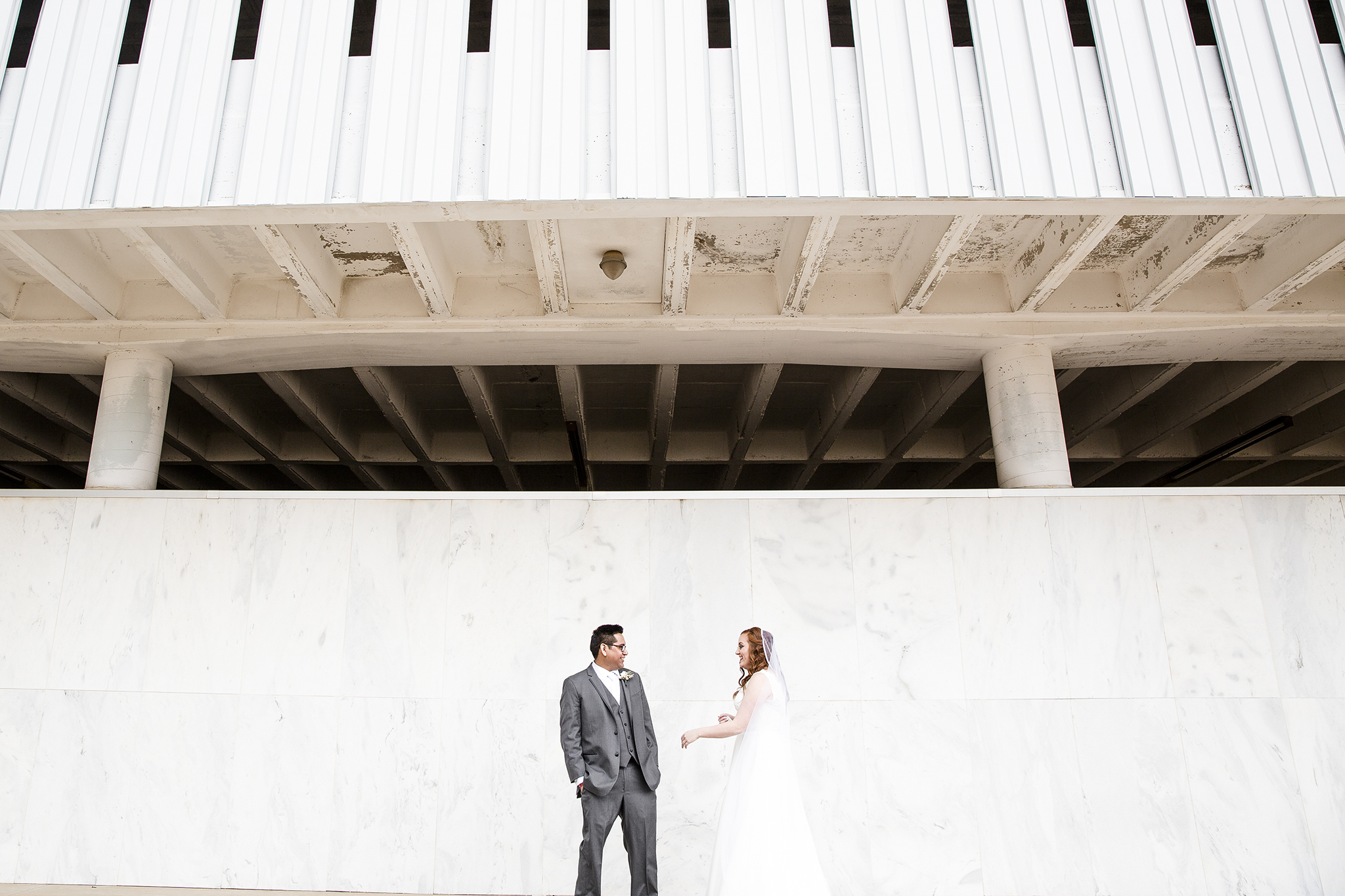 first look, bride and groom, lubbock texas, experience life church