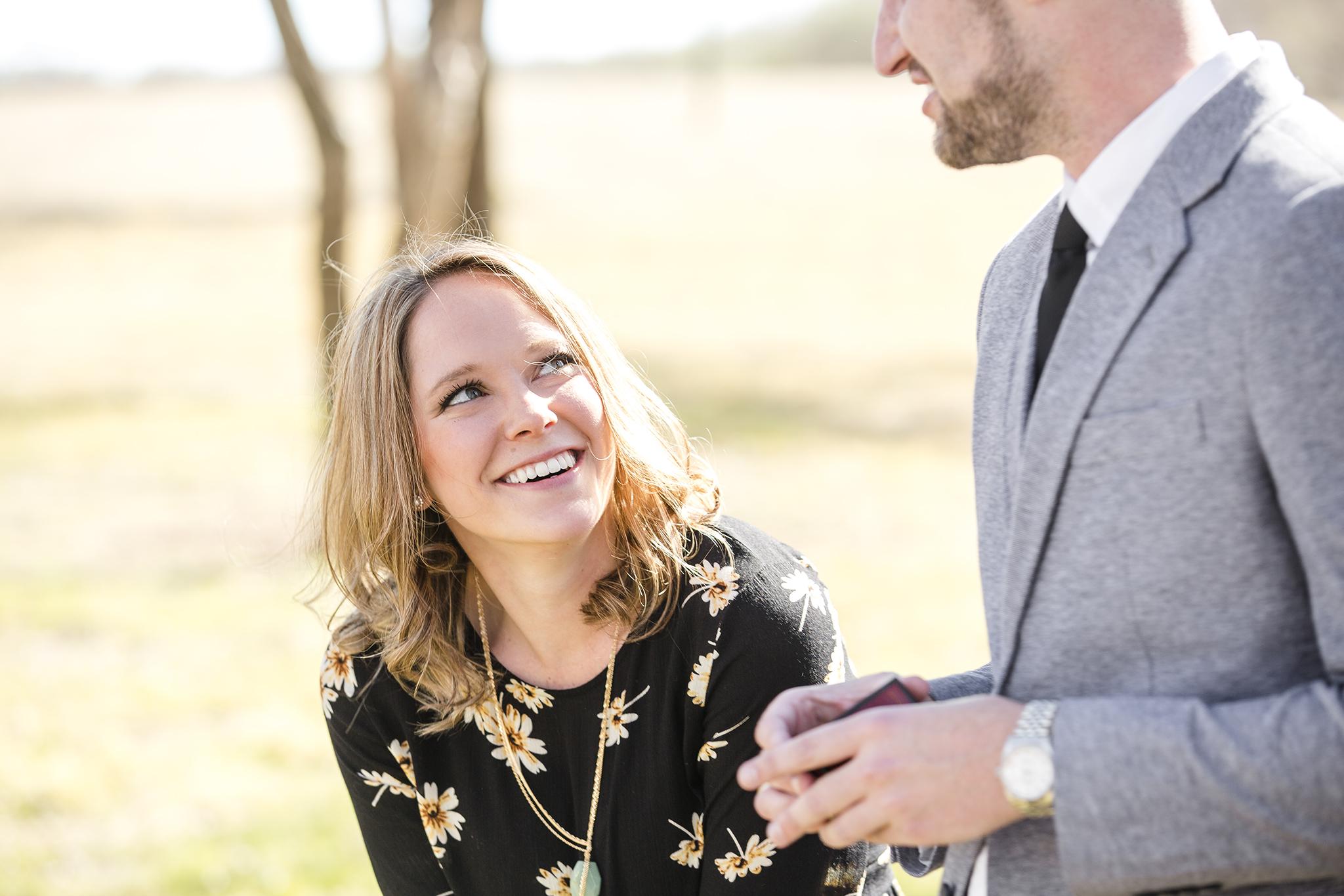engagement, surprise proposal, natural light photography, lubbock texas