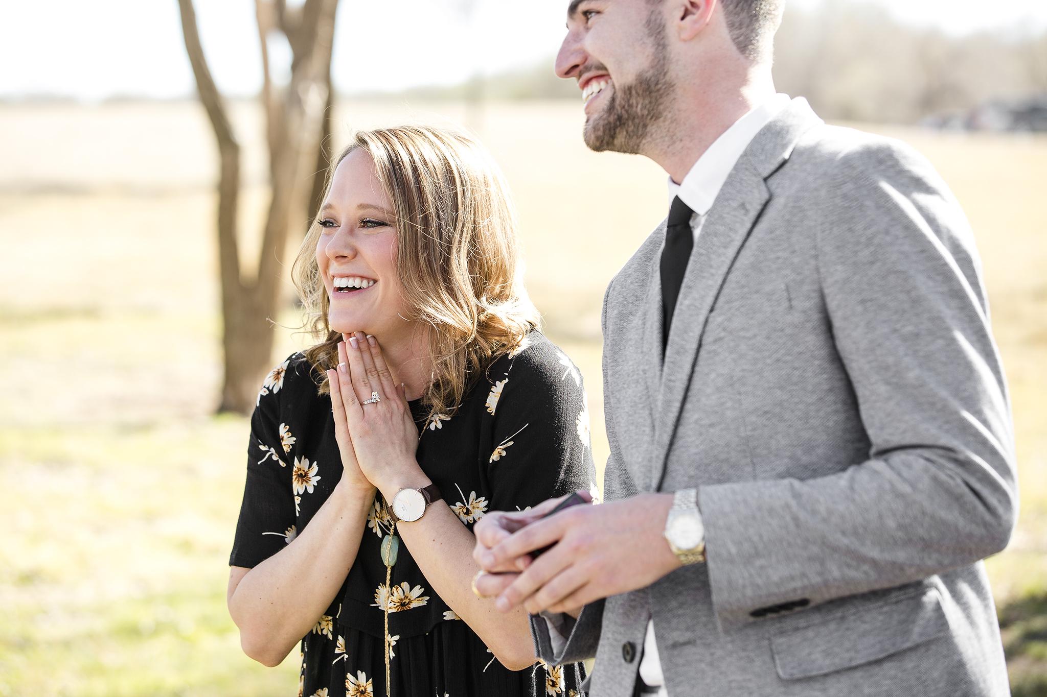 excitement, party, surprise proposal