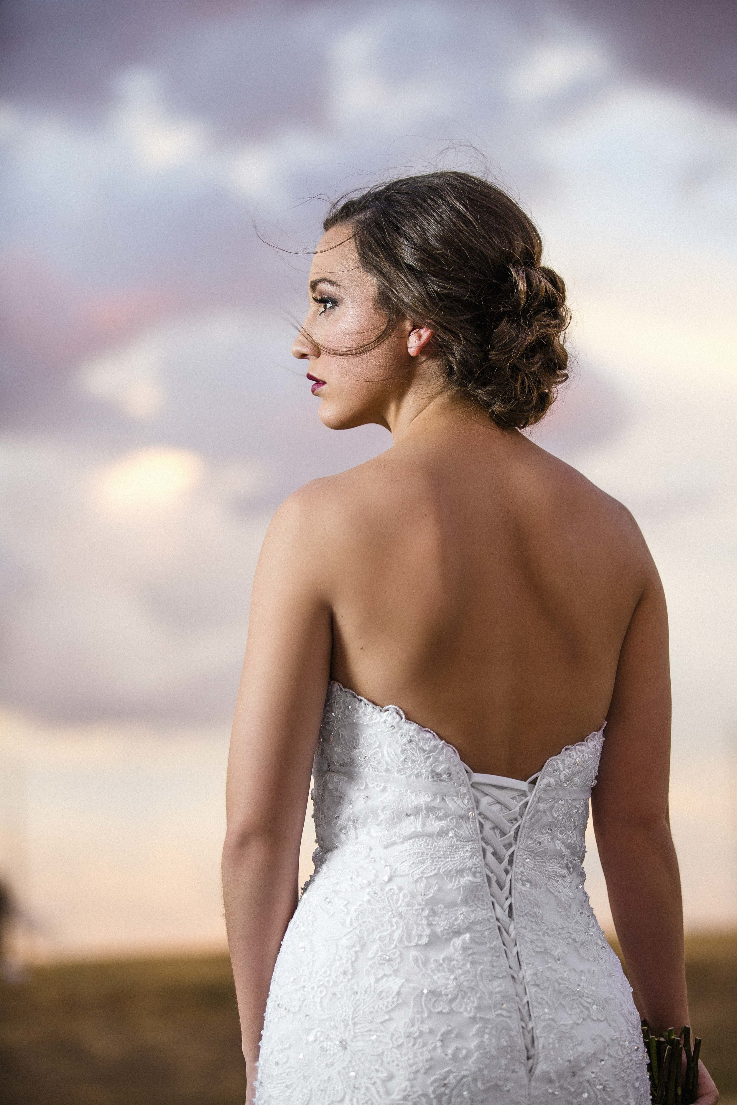 big texas sky, bridal photography, dramatic sky, soft light, lubbock wedding photography