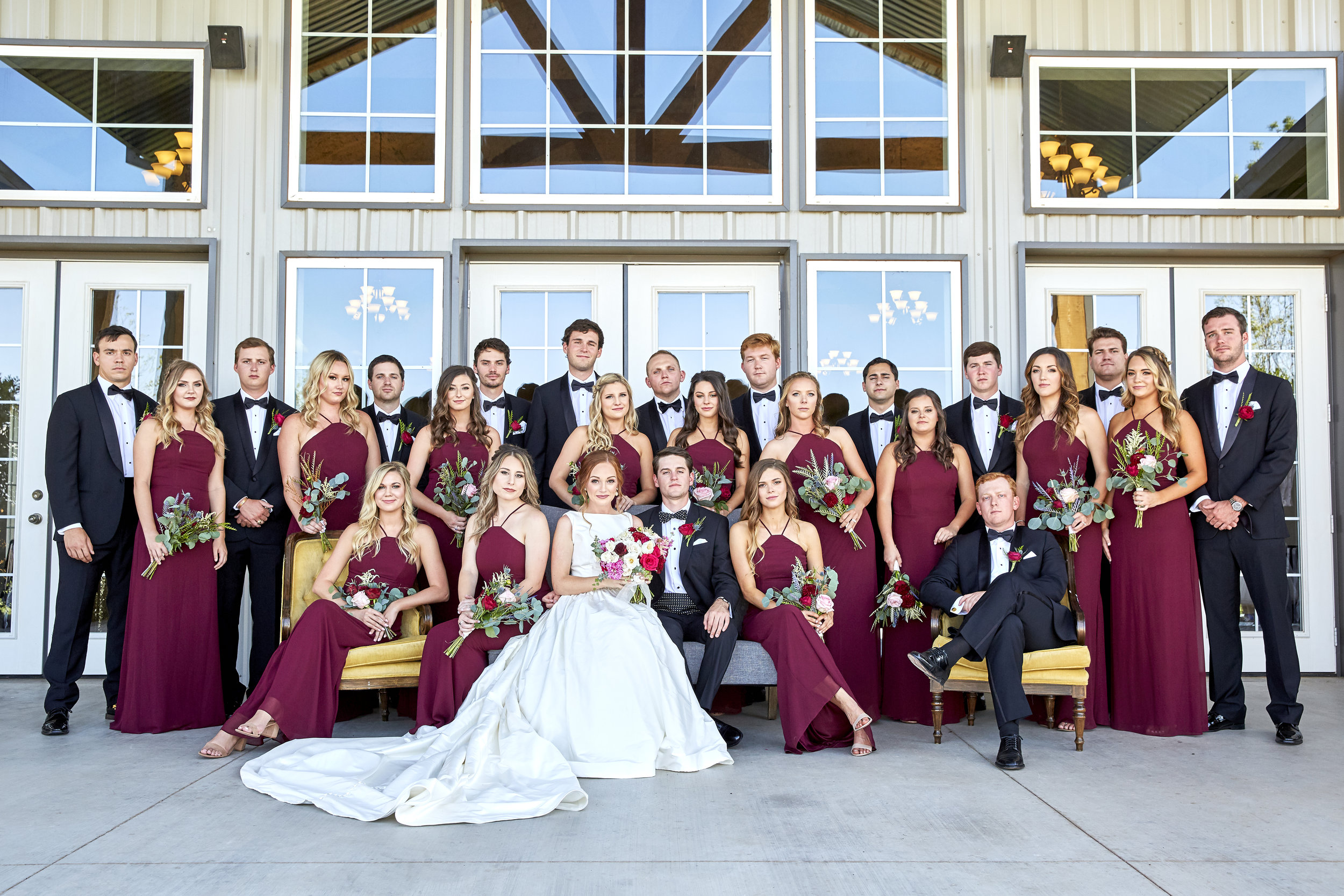 bridal party, lubbock wedding photography, autumn oaks, vanity fair, vintage, group photography