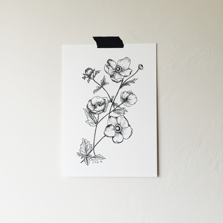 Stop, just stop!These black and white floral prints by Esther Clark make my heart sing! They're fem, affordable and pretty perfect.
