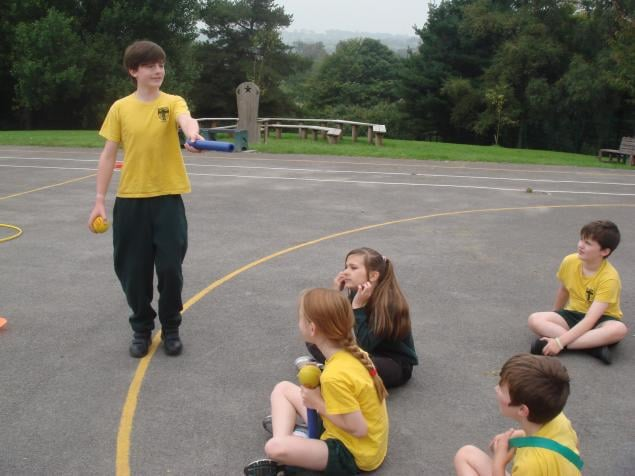 Photo: Year 6 practising their leadership skills: