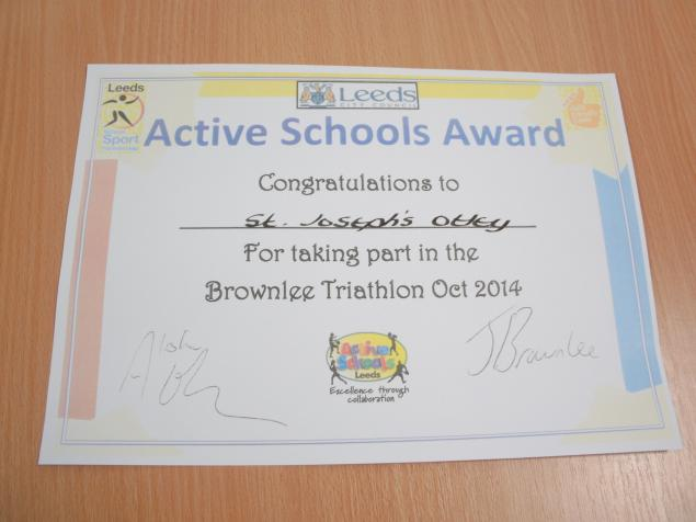 Our Certificate for taking part