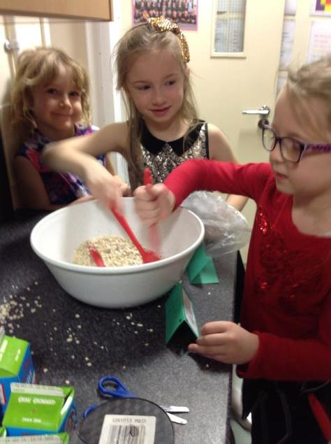 We made reindeer dust.
