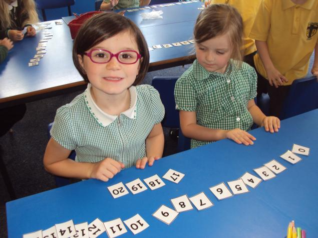 We have been ordering numerals.