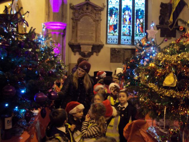 We visited the Christmas Tree Fair in Otley.