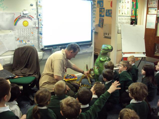 We were very interested in dinosaurs and had lots of questions.