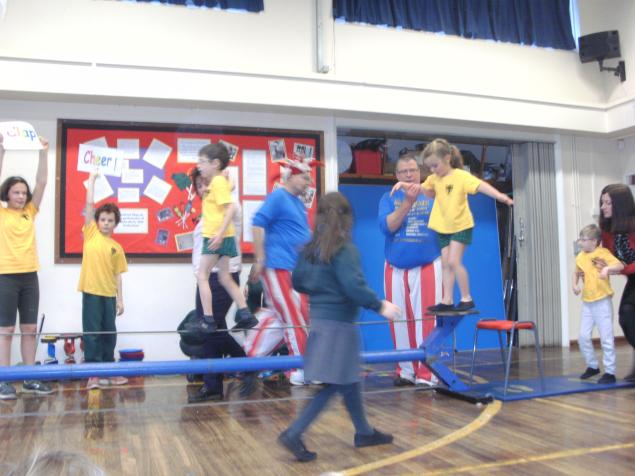 Last of all we had so much fun practising our Circus skills in the circus workshop and putting on another performance for the school. Even Mrs Knight walked the tightrope!