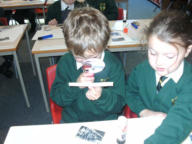 We looked at lots of clues and worked out that our classroom had turned into a Victorian classroom.