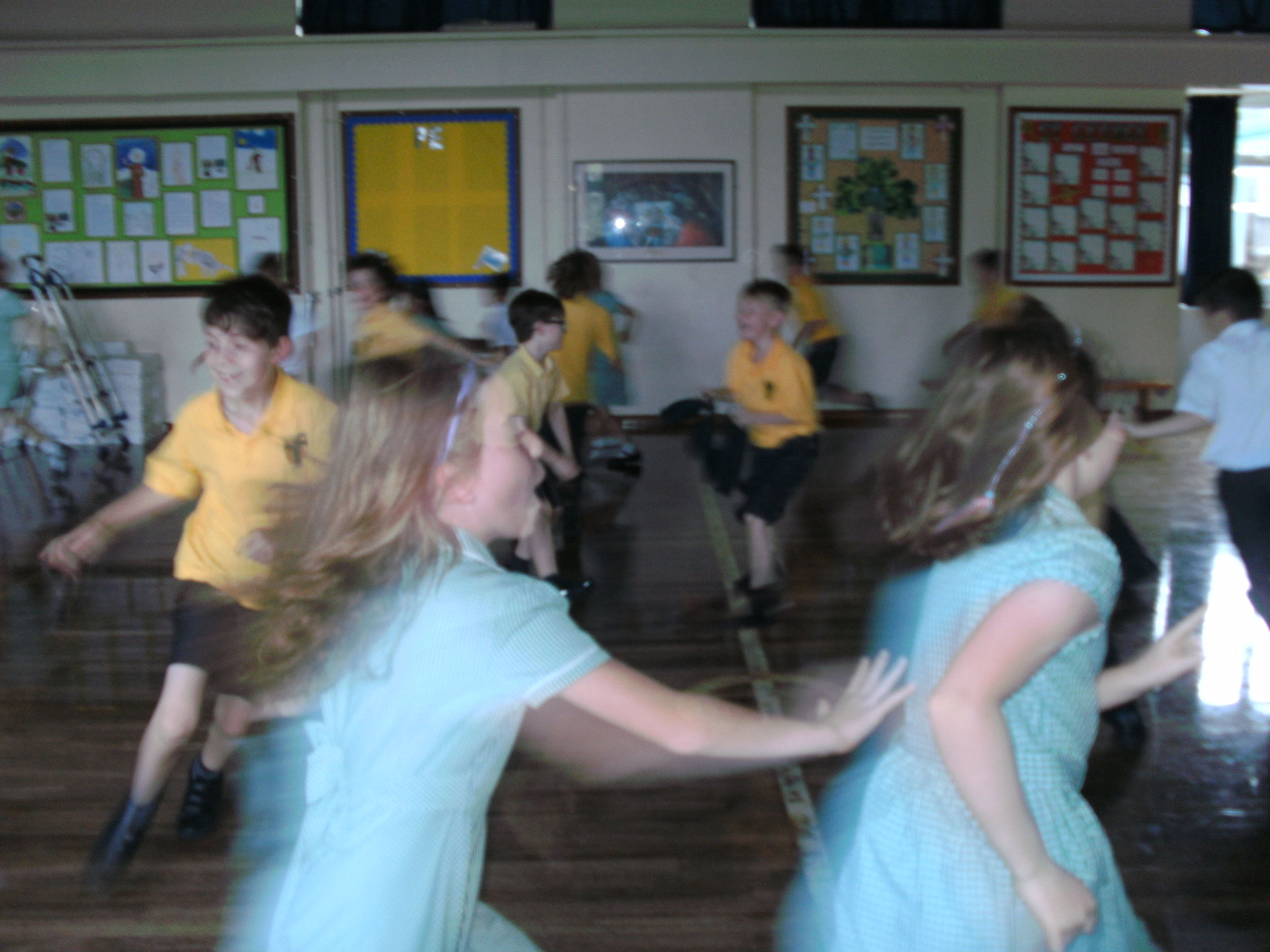 Pretending to be Gas particles was most fun. We could move quickly with lots of energy and fill the whole space !