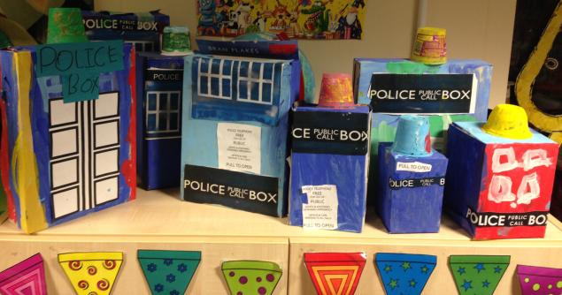 Year 2 made models of the TARDIS