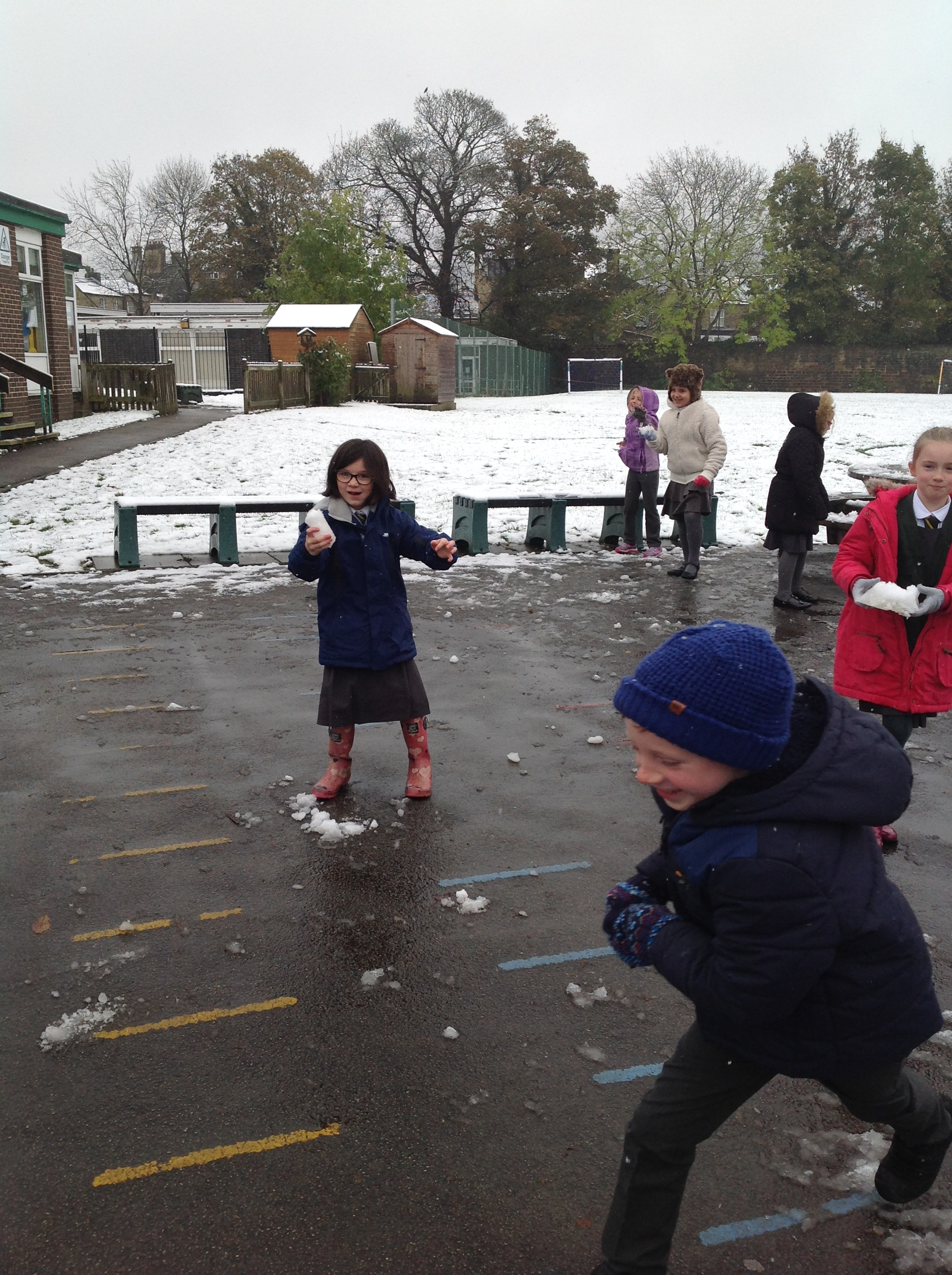There wasn't much snow left once Year 3 had finished!
