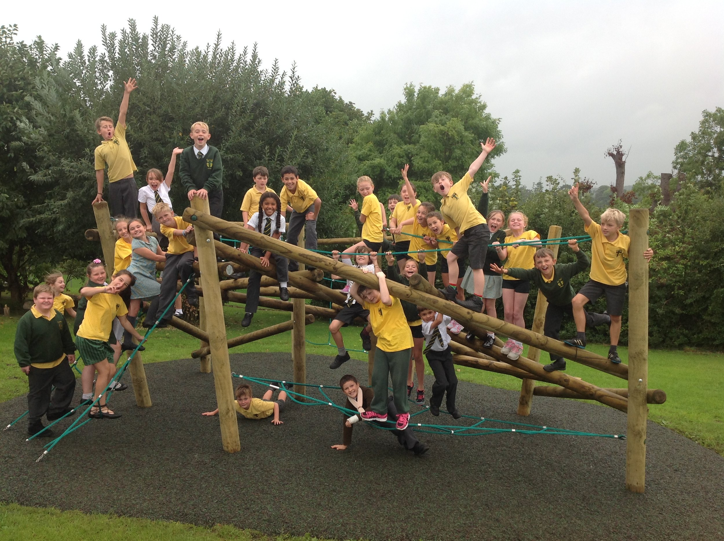 We have been enjoying monkeying around on the new adventure playground!